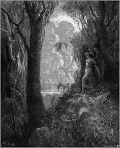 Gustave Dore, Satan in Paradise, Image via www.wikiart.org