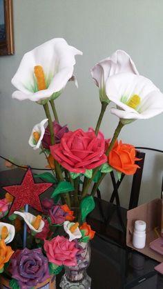Calas y rosas