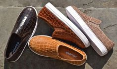 SAMMI in ALLIGATOR embossed leather is timeless in perfect #Fall colors