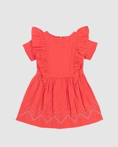 Vestido de niña Carrement Beau en naranja con bordado · Carrement Beau · Moda · El Corte Inglés