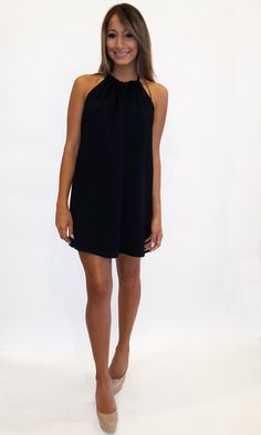 Rush Halter Dress - Black