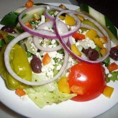 Large Greek Salad - Pizza My Heart - Zmenu, The Most Comprehensive Menu With Photos