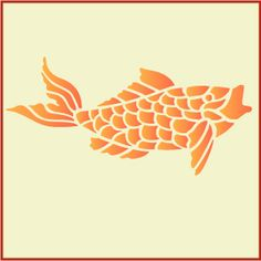 Carving and stencils on pinterest for Koi fish stencil