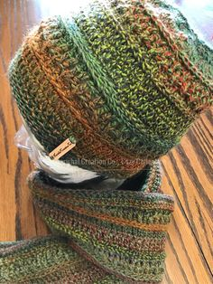 Slouchy hat matches the wanderlust scarf
