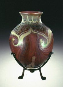 Favrile Agate Vase with Bronze Mount