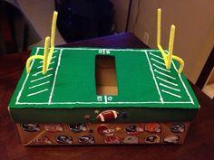 Tyler's Valentine's box.  He loves anything football!