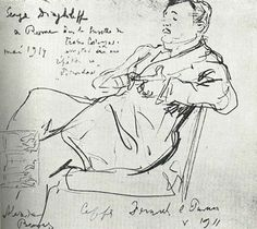 Diaghilev at rehearsal by Benois