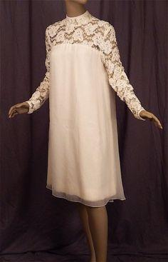 Priscilla Presley 60s Wedding Dress by FireflyVintage on Etsy