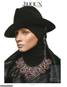 Russian beauty Anna Selezneva (Women) features in editorial for Vogue Paris March 2013 issue. Photographed by Giampaolo Sgura. Anna Selezneva, Vogue Paris, Modest Fashion, Fashion Outfits, Modest Clothing, Hijab Fashion, Style Fashion, Best Fashion Photographers, Hat Patterns To Sew