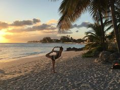 barbados sunset   #barbados #yoga #beachasana