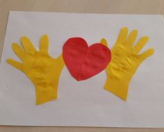 """""""Heart In Hands"""" Collage— 10 Minute Craft With Kids"""