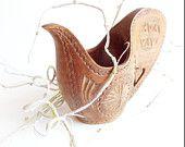 Shepherds Pitcher Yugoslavian FolkArt // Vintage Wooden Carved Primitive Pitcher Tureen // Mandala Design // Brown Natural Wood