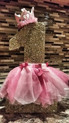 First birthday ballerina styrofoam number to decorate you sweet table and cake table. Customize to your theme. Any number can be requested.. Number one pictured above is 1...