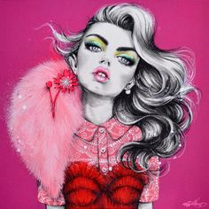 "1,855 Likes, 19 Comments - Pippa McManus Illustration (@pippamcmanus) on Instagram: ""'Hana In Valli' (2014). #SOLD"""