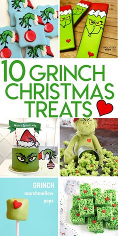 10 Grinch themed treats for Christmas