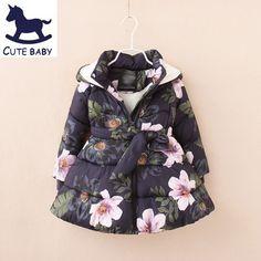 Девушки зимнее пальто детские Ветровки Зимние Куртки для девочек Одежда для  девочек куртка Одежда для новорожденных 6b6db9278f0