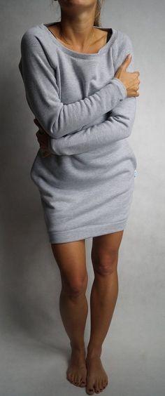 3727bacc48dad9 Sweatshirt dress long sleeves grey