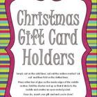 Here is a set of 6 gorgeous gift card holders that are really simple to make. Just cut, fold and glue!  Once dry, write your own personal message on the inside, insert gift card and it's ready to give!