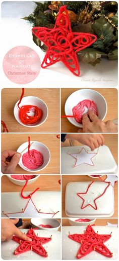 DIY Christmas Rope Star Ornament: