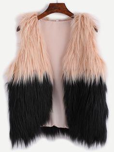 Shop Contrast Faux Fur Vest online. SheIn offers Contrast Faux Fur Vest & more to fit your fashionable needs.