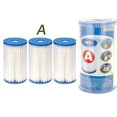 3 Cartouches de Filtration Intex pour filtre piscine – Intex TYPE A