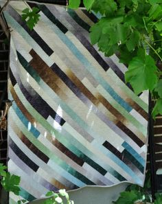 Ombre Earth Tones Striped Patchwork Lap Quit 47 by 58 inches Quilting Projects, Quilting Designs, Quilting Ideas, Sewing Projects, Modern Quilting, Patchwork Quilting, Sewing Tips, Sewing Ideas, Diy Projects