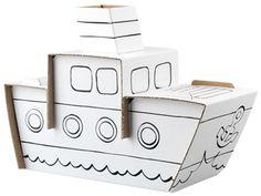 Calafant - Cardboard Steamer Boat