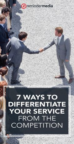 Here are seven ways to differentiate your service so that you can outrun the competition in your area. small business - business marketing - entrepreneur - real estate agent marketing Relationship Marketing, Business Professional, Differentiation, Business Marketing, Competition, Entrepreneur, Real Estate, Real Estates