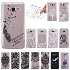 For Sumsung Galaxy J1 J5 J7 J3 2016 Fashion Transparent Soft TPU Case for Samsung Galaxy J3 2015 J3 Pro Cute Silicon Back Cover