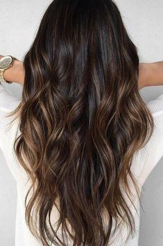 Balayage Hair Caramel, Caramel Hair, Balayage Brunette, Hair Color Balayage, Hair Color For Black Hair, Dark Hair, Burnette Hair, Boliage Hair, Low Maintenance Hair