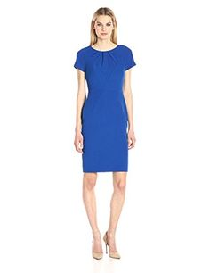 e9d15bb0 Adrianna Papell Women's Seamed and Tucked Sheath Dress Casual Dress Outfits,  Night Outfits, School