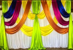 Henna Party Backdrop  #lachefs #lachefsdecor #decor #catering #hennaparty #backdrop #brightcolours #swag