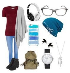 """""""Comfy in Blue"""" by pandatrix on Polyvore featuring Paige Denim, Étoile Isabel Marant, Topshop, Joseph, Beats by Dr. Dre, Kate Spade, Yves Saint Laurent, Keds, Lucky Brand and Elwood"""