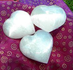 Selenite Heart crystal by Krystalins on Etsy, $13.00