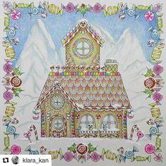 #Repost @klara_kan with @repostapp ・・・ The Gingerbread house in the Alps 😁 from the #johannaschristmas by #johannabasford #festivecoloralong #arte_e_colorir #adultcoloringbook #artecomoterapia #boracolorirtop #bayan_boyan #divadasartes #desenhoscolorir #prazeremcolorir #adultcolouring