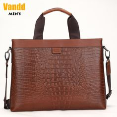 Aliexpress.com   Buy Vandd Men s Crocodile Embossing Genuine Leather Tote  Handbag Business Laptop Briefcase Casual Shoulder Messenger Bag from  Reliable mens ... 88f85a0809