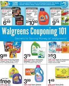 Walgreens Couponing 101! How to save money at Walgreens!
