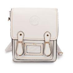 Michael Kors Logo Signature Medium White Backpack