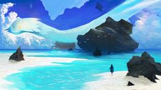 Distant shore by Tapirzok.deviantart.com on @DeviantArt