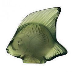 Lalique Crystal - Seal Fish (4.5cm):  ANTINEA GREEN 3001200 #Lalique