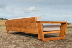 Point Lonsdale Couch by Bombora Custom Furniture - Melbourne Couch, Exposed Frame, Made To Order, Recycled Messmate, Solid Timber, Torquay, Angled Box Leg, Industrial