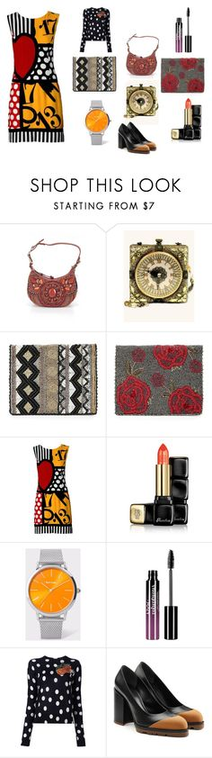 """""""It's A Mary Frances Day"""" by rocky-springs-vintage on Polyvore featuring Mary Frances Accessories, Moschino, Guerlain, Paul Smith, Charlotte Russe, Dolce&Gabbana and Jil Sander"""