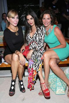 Marysol Patton Photos Photos - TV Personalities Marysol Patton, .Adriana de Moura, and Luann de Lesseps.attend the Maaji show during Mercedes-Benz Fashion Week Swim 2015 at The Raleigh on July 19, 2014 in Miami Beach, Florida. - Maaji - Mercedes-Benz Fashion Week Swim 2015 - Front Row