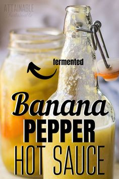 This banana pepper recipe is easy to make and a wonderful way to preserve these spicy peppers. Recipes With Banana Peppers, Hot Banana Peppers, Stuffed Banana Peppers, Fermented Hot Sauce Recipe, Hot Sauce Recipes, Banana Pepper Sauce Recipe, Canning Recipes, Raw Food Recipes, Dehydrated Bananas