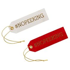 No Peeking Pleather Gift Trim Tags, Pack of 2