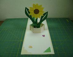 Cartão Pop Up Flor Girassol