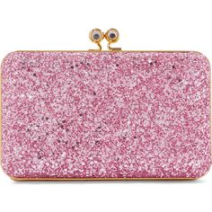 Sophie Hulme Sidney glittered suede clutch ❤ liked on Polyvore featuring bags, handbags and clutches