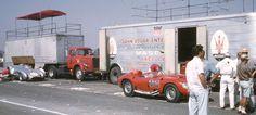 Von Neumann and Edgar Racing Teams at Santa Barbara 1958