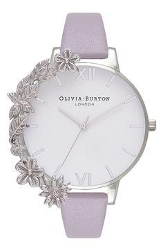 Olivia Burton Case Cuff Leather Strap Watch, jewelry watches for women Fancy Watches, Trendy Watches, Elegant Watches, Beautiful Watches, Luxury Watches, Cool Watches For Women, Women's Watches, Bling, Hand Watch