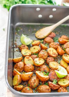 Roasted Potatoes with East Indian Spices | Jo Cooks  #potatoes #roastedpotatoes